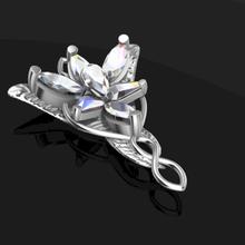evenstar Arwen colgante pendiente señor anillos 3d impresión modelo collar señor anillo colgante Arwen evenstar lotr duende plata oro hada joyería joya joya cuento rinoceronte 3d joyería cosplay funart