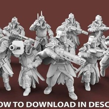 expendable brigade - ranged infantry 40k astra militarum death dkok great war infantry korps warhammer 3d_printing
