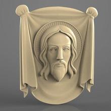 face jesus cnc art 3d model art