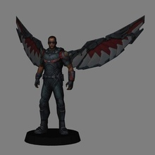 falcon - avengers endgame 3d print marvel mcu falcon 3d model 3d print low poly falcon and the winter soldier