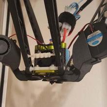 fan shroud 40mm x 20mm blower style - rostock max tool 3d printer parts rostock max v2 rostock max rostock printer parts kossel fan shroud fan blower fan blower 40x20mm fan 40x20mm 40mm fan