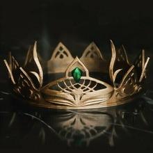 fantasia corona tiara corona tiara gioielleria arte Gotico Harry vasaio buio corvonero diadema oro Basso poli Regina re casco vichingo fantasia cosplay