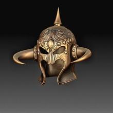 fantasy helmet 3 art helmet high poly printable-model gadget art knight