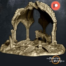 fehntop ruins - supportless diorama scatter terrain game fantasy tabletop rpg skirmish wargaming dnd lotr frostgrave warhammer supportless 28mm building architecture terrain temple shrine scatter scatter terrain ruins ruin ancient roman greek elven