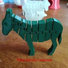 flexi burro - la natividad de la colección de belén casa jannie burro escena de la natividad decoración de la decoración la natividad flexi de navidad
