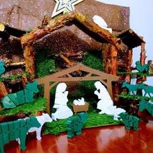 flexi escena de la natividad - belen flexi casa de navidad flexi la natividad de la decoración decoración escena de la natividad jesús maria jose