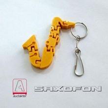flexi saxophone - key chain key ring flexi design3d saxophone music toy impression3d education