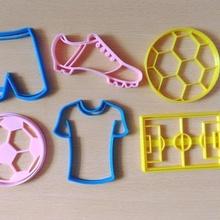 football kit x6 cookie cutters home molde cocina dise o equipo pantalon camiseta botin pelota cancha kit jugador cortante galleta cortante figuras futbol