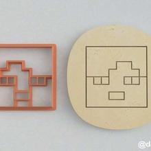 formas de las galletas de pan de jengibre de alex de la cabeza de minecraft dos casa enredadera los juegos de video la torta steve alex juego de minecraft cookie cortador la cocción
