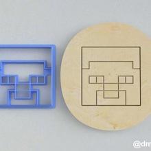 formas de las galletas de pan de jengibre de la cabeza de steve de minecraft casa enredadera los juegos de video la torta steve juego de minecraft cookie cortador la cocción