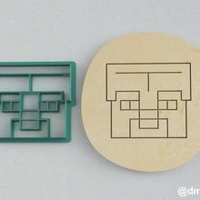 formas de las galletas de pan de jengibre steve casco de minecraft casa la cocción cortador cookie de minecraft juego steve la torta los juegos de video enredadera