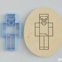 formas de las galletas de pan de jengibre de steve de minecraft casa la cocción cortador cookie de minecraft juego steve la torta los juegos de video enredadera