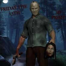 friday 13th jason voorhees art toy art toy pennywise 3dmodel 3d model 3dscan 3dprint figure cartoon movie statue sculpture horror ghost it halloween character man jason jason voorhees friday the 13th friday 13