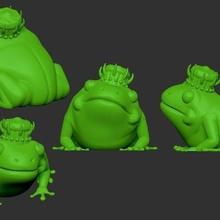 frog king art king frog commission community royal royal frog frog prince green crown jewels