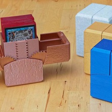 geared deck box magnetic latch 60 card + 15 card sideboard game magic geared magnet yugioh ccg box deck mtg sideboard