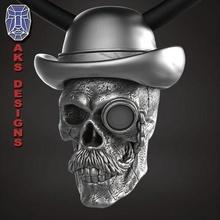 gentlemen skull 1 pendant jewelry jewel jewellery biker gang club riders punk fancy jewelri pendant skull rings hat magician cap mustache cowboy glass chain waistcoat jewelry pendants