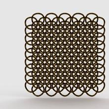 geometric chainlink art 3d chain chainlink geometric geometry hexagon honeycomb model printable sacred math art