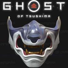 ghost tsushima - wolf tsushima mask fan art cosplay 3d print mask cosplay fanart ghost tsushima game toy print disguise costume japan asian demon devil wolf horror accessories animal