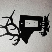 giant elk wall outlet home plate cover decor home outlet wall nature elk bull elk