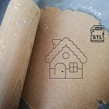 pan jengibre casa Galleta cortador Días festivos Navidad pan jengibre casa Galleta horneando Galleta cortador masa forma cocina hornear galletas speculoos