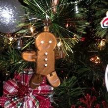 pan jengibre hombre ornamento flexi juguete Navidad flexi flexible Galleta ornamento pan jengibre hombre Navidad árbol