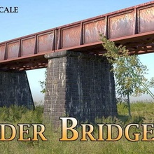 girder bridge - model railway n ho z scale architecture buildings structures structural bridge structural small pony plate bridge pier n scale  ho scale girder bridge bridge truss bridge