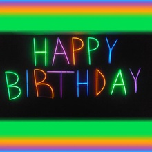 glowing happy birthday letters art celebration diy printer present birthday present happy happy birthday letters happy birthday sign happy birthday 3dprint 3d only 1 world one kind