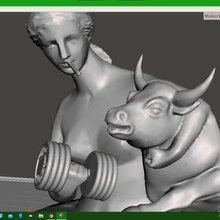 deusa Vênus romano clássico escultura fracasso moderno arruinado desfigurado ganhos touro cigarro pesos músculo engraçado Banksy famoso Hilário incrível extremo monstruosidade grego remixar Ri útil