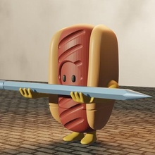 Jungs Bleistift Halter Unterstützung ps4 Stift Bleistift videojuego Hotdog Würstchen Fullguys