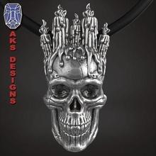 halloween candle skull 1 pendant jewelry jewel jewellery biker gang club riders silver gold mens womens punk fancy jewelri pendant skull rings horror terror festival fire jewelry pendants