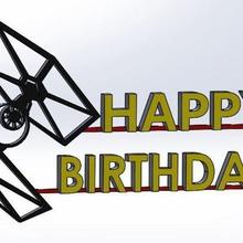 feliz cumpleaños star wars ala de combate gadget la torta feliz de cumpleaños de star wars ala luchador felicitaciones