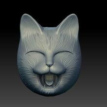 contento gatto maschera folclore giapponese troll orco diavoli oni maschera gatto