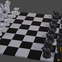 Harry çömlekçi satranç 3d Harry çömlekçi satranç piskopos kale kral şövalye piyon kraliçe film