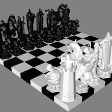 Harry çömlekçi sihirbaz satranç adet Ayarlamak Harry çömlekçi hp satranç sihirbaz jetonlar jeton parça model 3d stl obj adet kral kraliçe şövalye piyon kule heykel