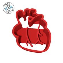 heart - cookie cutter - fondant body colletction kit set brain bone bowels heart kidney liver lungs stomach human kid birthday party education play-doh cookie cutter cookie cutter clay pastry baking dessert fondant