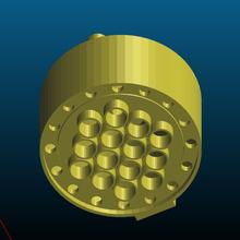 heat exchanger cap remix - easier print heat heat exchanger industrial industrial design mechanical engineering