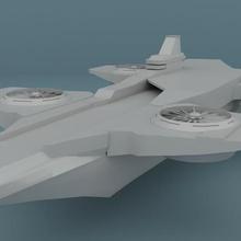 héliporteur vengeurs faible poly Hellicarrier bouclier homme fer arme vaisseau spatial vaisseau spatial cargaison quinjet sci futuriste avion hélicoptère drone hélice ailes jouet