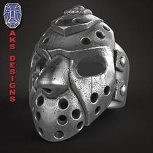hockey mask 1 ring jewelry jewel jewellery biker gang club riders punk fancy jewelri skull rings jason helmet guard horror hollywood fan art gangster mobster