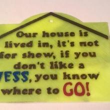 Casa pasticcio cartello Casa pasticcio go cartello sciocco divertente