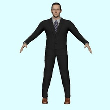 human character various low poly 3d model game ready rigged physic gent