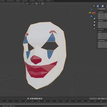 insan joker maske maske kostüm Kostüm oyunu joker çizgi roman insan düşük poli