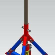 idraulico in feed out feed supporto rullo 3dcad ingegneria idraulico Jack design ingegneria 3d modellazione design sollevamento apparecchio