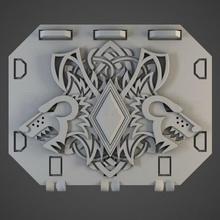 interestelar vikingos rechazar tanque puertas mesa ciencia ficción miniaturas 28mm juego guerra miniatura 3d impresión martillo guerra 40000 40k espacio Lobos lobo espacio interestelar vikingos espacio marina marina repulsor