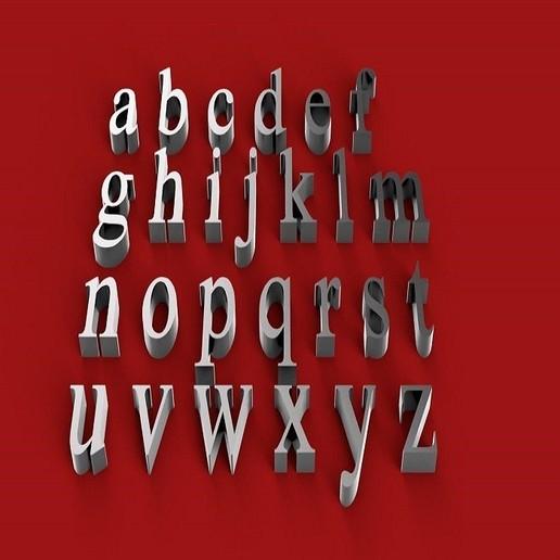 iskoola font lowercase 3d