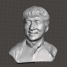 jackie chan bust art people stl star person obj modelforprint jackie chan jackie for3dprint fdm face comedy cjp china character chan busts bust acter 3dprint 3dmodel
