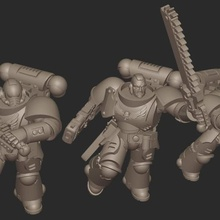 jarhead assault force assault marine jarhead space chain sword bolter