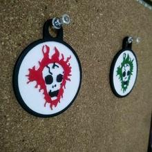 jeff buckley skull keychain buckley jeff keychain music rock skull signs_logos