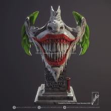 burlone viso v01 arte burlone dc viso 3dprint 3d arte arte digitale Pronta per stampare Gotico scolpire fan JOKERFAN dcfan Batman Joker Batman ride guasone clown fighe Gotham
