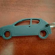 key ring - peugeot 206 key ring car peugeot peugeot 206 career impression 206 key chain profile in profile map
