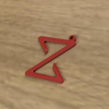 keychain 3d print model wood keychain keys personalized logo keychains gadget gadgets symbol symbols z custom 3d print paint